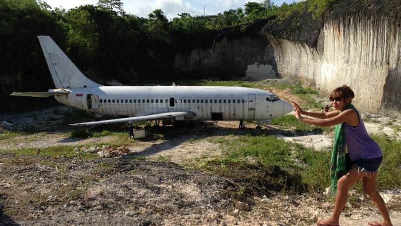 bali abandoned plane