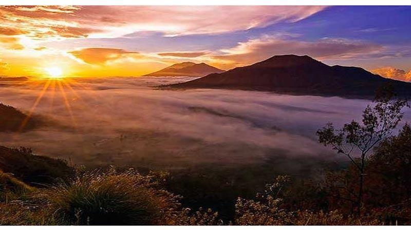 sunrise batur volcano bali