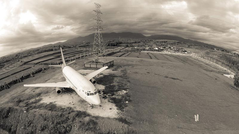 Abandoned airplanes in Bali: This plane looks like an old Citilink jet