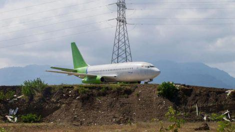 Abandoned airplanes in Bali: A Boeing 737 in Jembrana regency