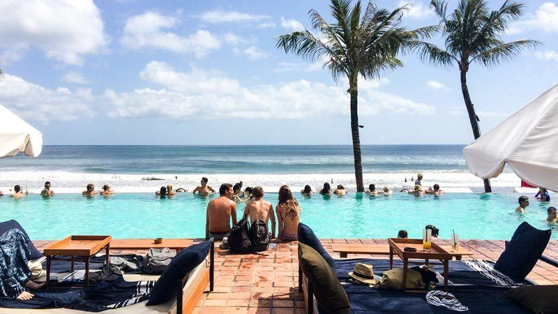 Bali beach clubs: Potato Head is located right on the beach in Seminyak