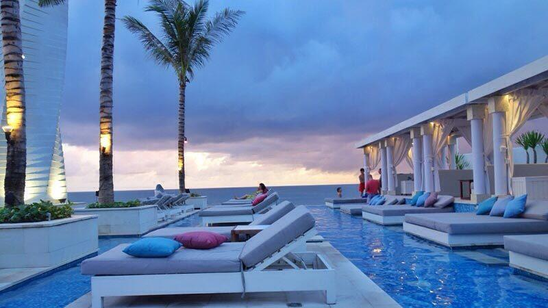Bali beach clubs: The pavilions at Vue come with private daybeds