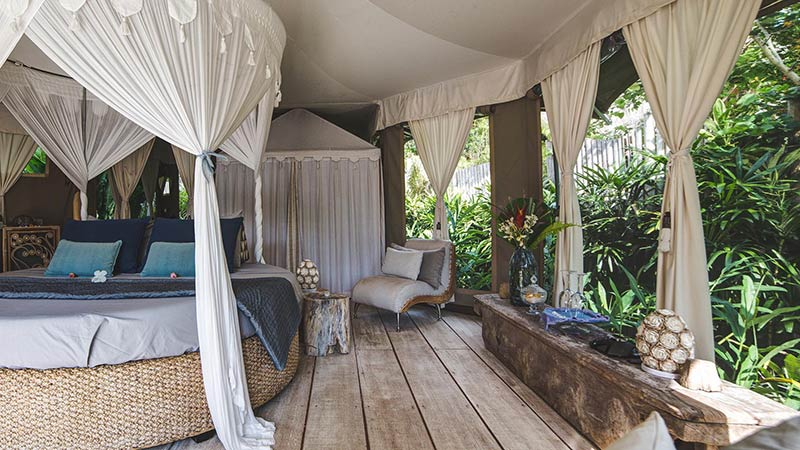 Bali must try activities: Glamping at Sandat in Ubud