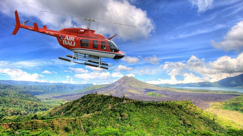 Bali to Gili Islands: Air Bali offers the opportunity to go to Gilis by a helicopter