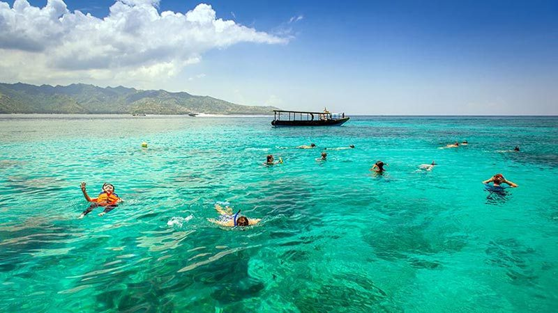 Bali to Gili islands: Snorkelling is a popular activity on Gili islands