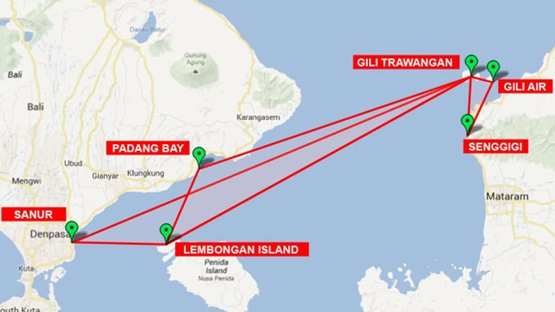 Bali to Gili Islands: The speedboat routes from Bali to Gili Islands and Lombok