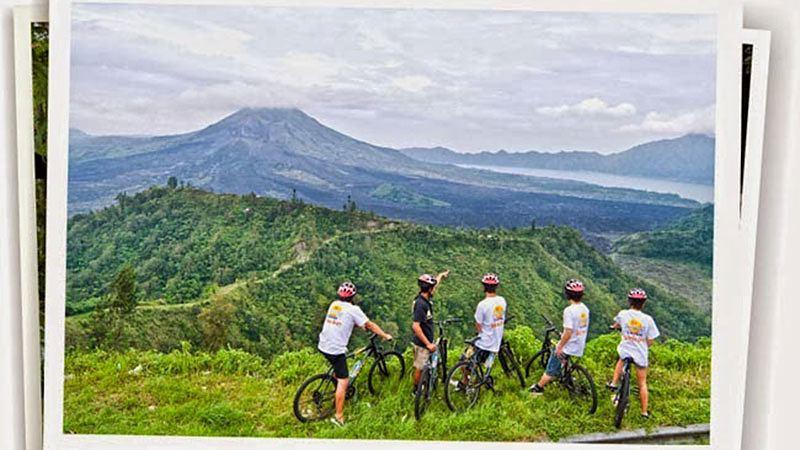 Bali with kids: A cycling tour at Kintamani