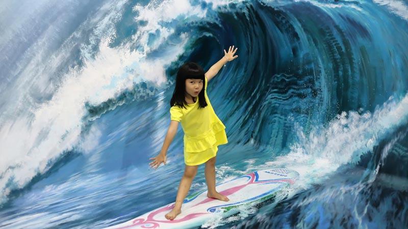 Bali with kids: DMZ is a popular Trick Art Gallery in Seminyak