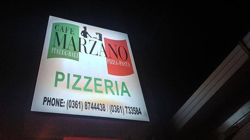 Best pizza in Bali: Cafe Marzano can be found on the way to Double Six beach
