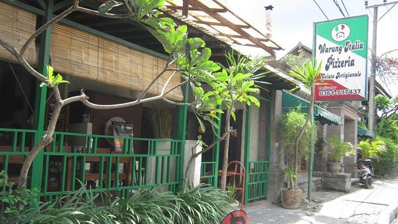 Best pizza in Bali: Warung Italia on Jalan Kunti in Seminyak