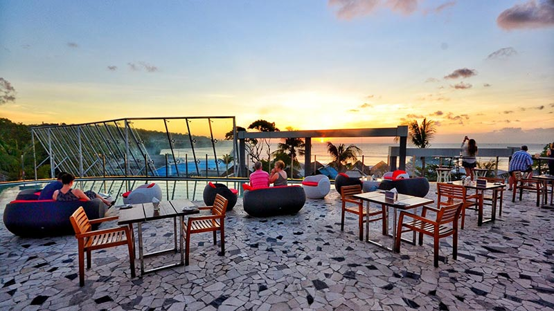 Best rooftop bars in Bali: Smoqee Sky Bar and Lounge at Le Meridien hotel