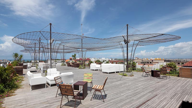 Best rooftop bars in Bali: Vertical Point atop the Akmani hotel in Legian