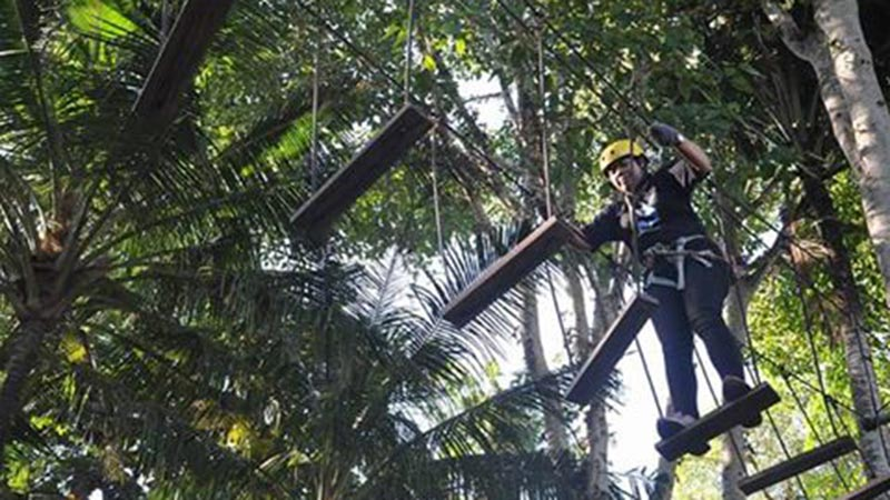 Camping in Bali: Alam Treetop Adventure park is great for teambuilding