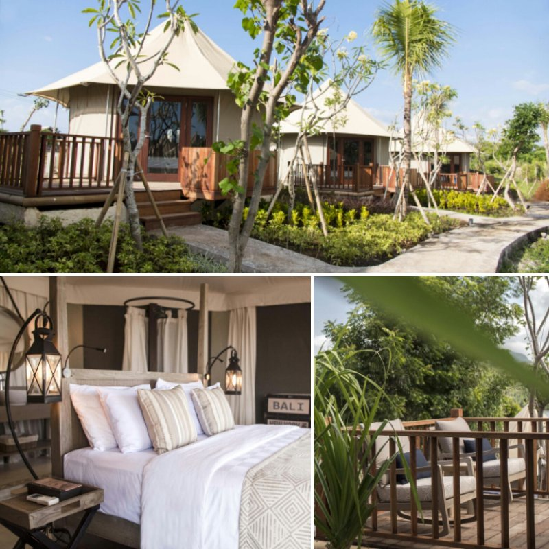 Camping in Bali: There are 24 tented suites at menjangan Dynasty Resort