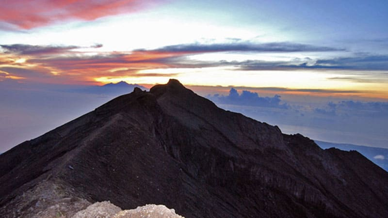 Camping in Bali: Mount Agung is the highest volcano in Bali