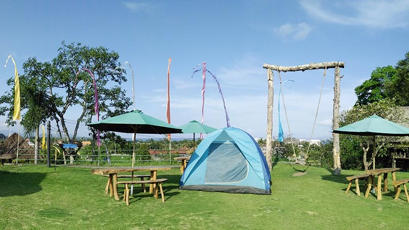 Camping in Bali: Rangkung Hill camping ground is located in Gianyar