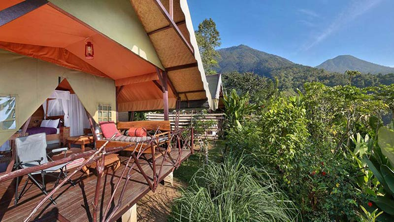 Camping in Bali:Sang Giri mountain glamping camp in Jatiluwih