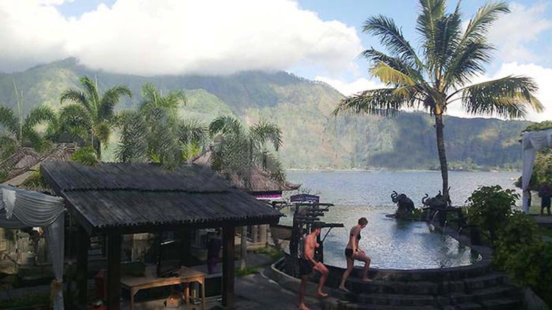Camping in Bali: Natural hot springs at Toya Devasya camping