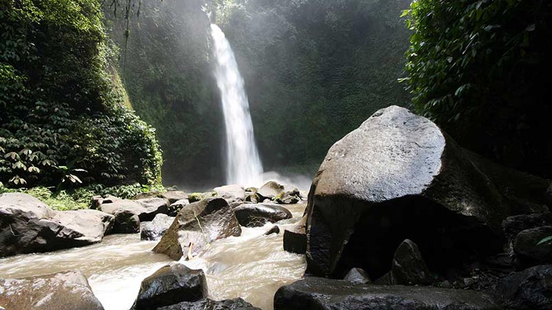 Nungnung waterfall lies in the middle of nowhere in Bali