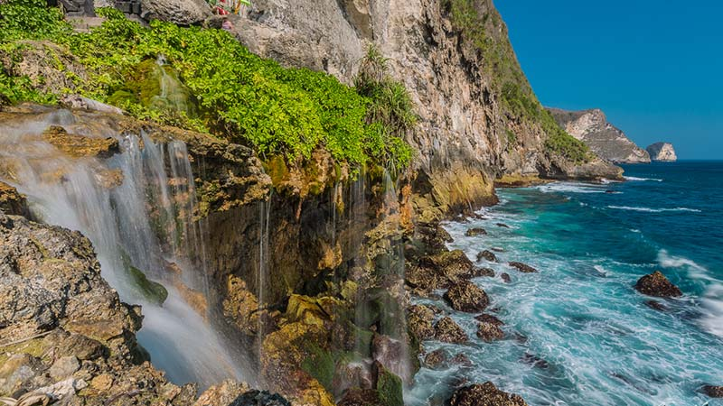 Peguyangan waterfall on Nusa Penida island in Bali