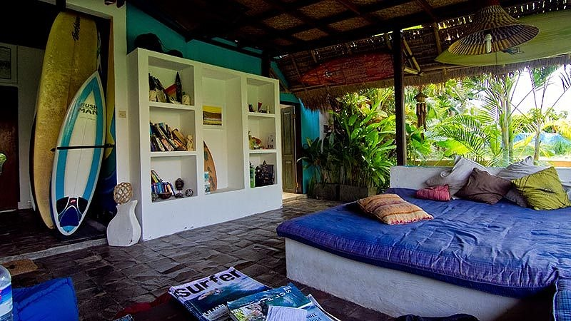 Travelling alone in Bali: A room at a luxury surf camp